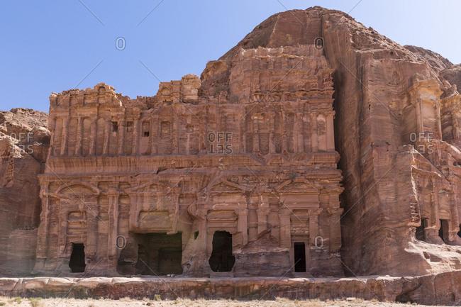 Jordania- Wadi Musa- Petra- Royal tombs- Palace grave