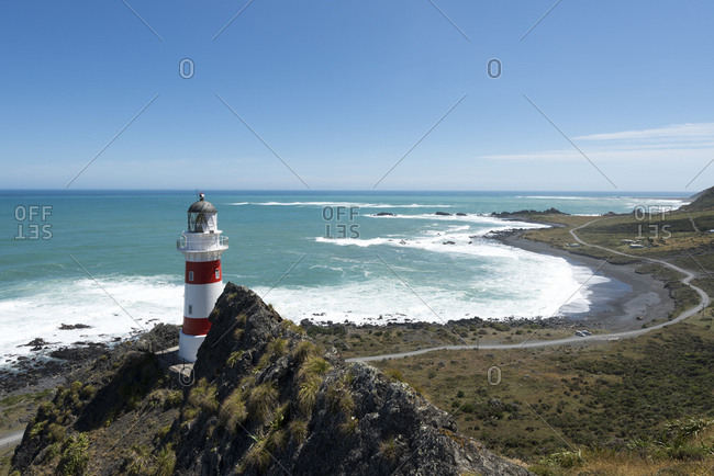 New Zealand- North Island- Wellington- South Wairarapa- Cape Palliser- Lighthouse