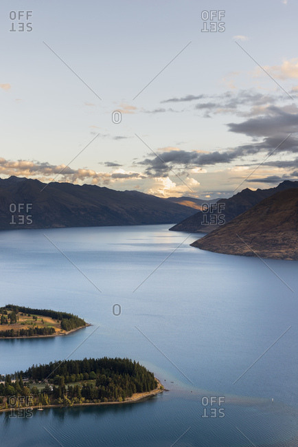 New Zealand- South Island- Crown Range- Lake Wakatipu