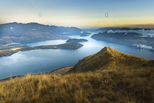 New Zealand- South Island- Wanaka- Otago- Coromandel peak at sunrise