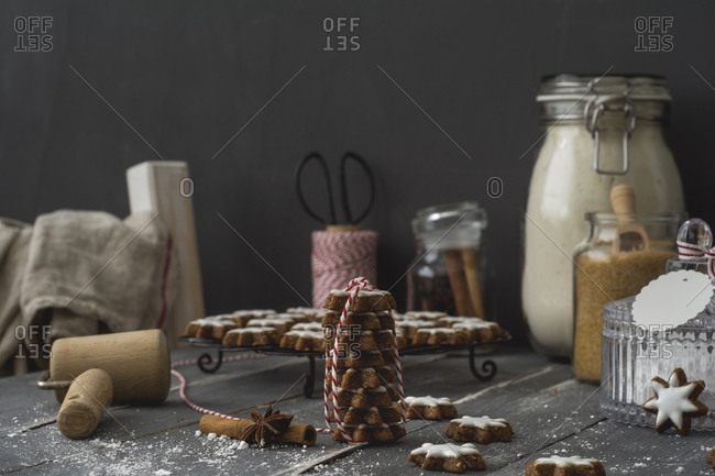 Home-baked cinnamon stars