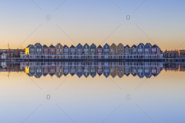Netherlands- Holland- Rotterdam- Houten in the evening