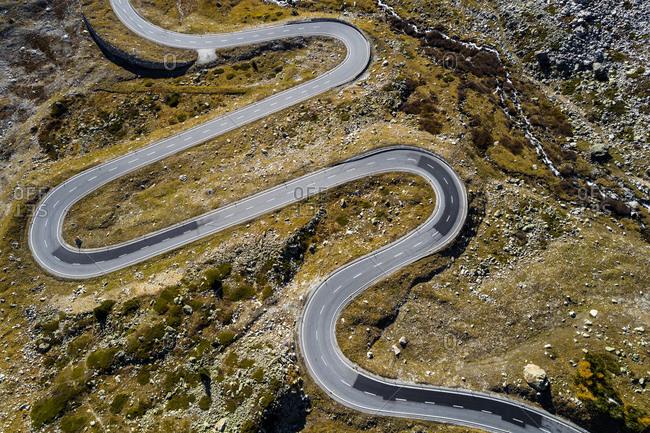 Switzerland- Grisons- Swiss Alps- Julier pass- aerial view