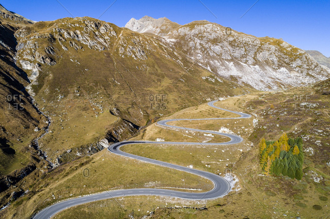 Switzerland- Grisons- Swiss Alps- Parc Ela- Julier pass- aerial view