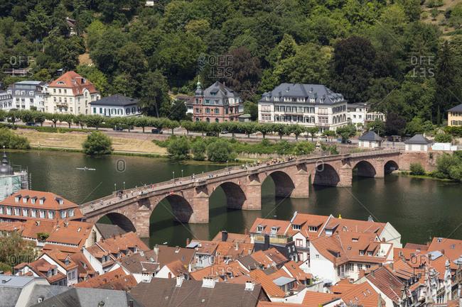 Germany- Baden-Wuerttemberg- Heidelberg- Neckar- Charles-Theodore-Bridge