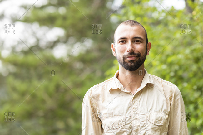 Portrait of confident man outdoors
