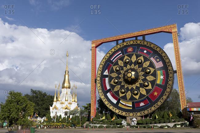 Thailand- Ubon Ratchathani- Wat Tham Khuha Sawan Amphoe Khong Chiam- big gong