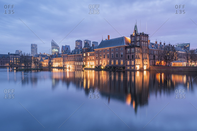 December 7, 2016: Netherlands- Holland- The HagueBinnenhof in the evening