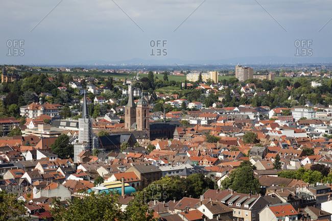 July 16, 2018: Germany- Rhineland-Palatinate- Neustadt an der Weinstrasse- townscape