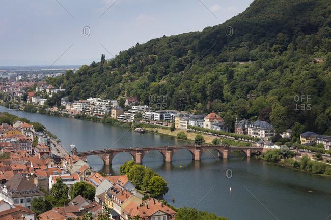 July 13, 2018: Germany- Baden-Wuerttemberg- Heidelberg- Neckar- Charles-Theodore-Bridge