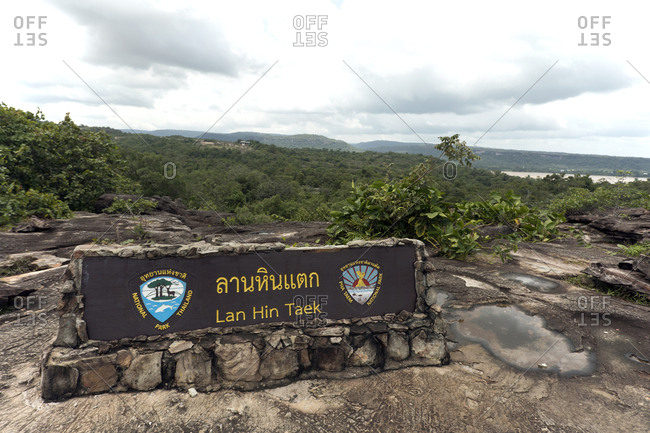 August 3, 2018: Thailand- high plateau Lan Hin Taek- Pha Taem National Park