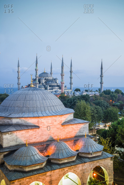 Firuz Aga (or Firuz Agha) mosque and Sultanhamet Camii also known as Sultan Ahmed Mosque or Sultan Ahmet Mosque (Blue Mosque). The Blue Mosque, as it is popularly known, was constructed between 1609 and 1616 during the rule of Ahmed I