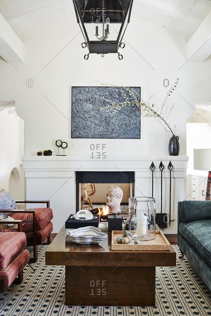 Los Angeles, California, USA - December 24, 2015: Interior of a designed apartment