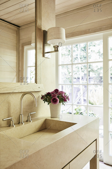Modern bathroom in a Malibu beach house