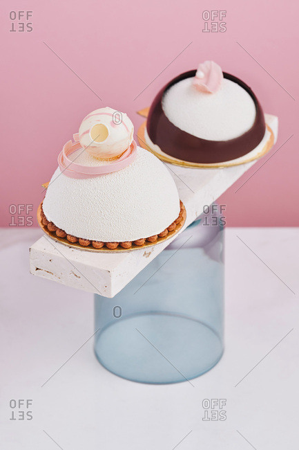 Two mousse desserts
