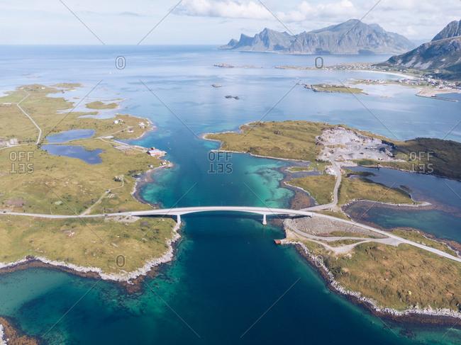 Amazing landscape of roadway on islands