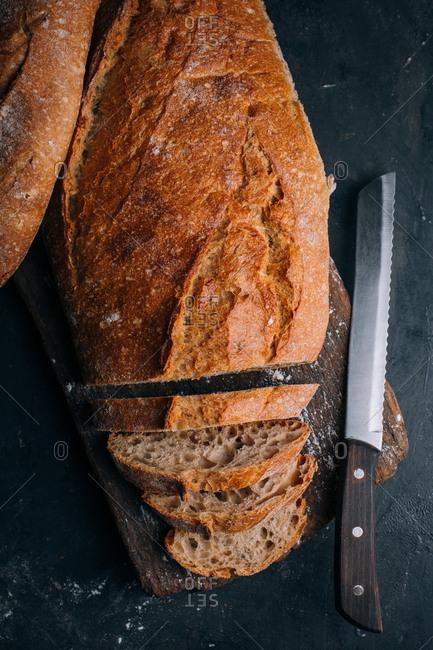 Homemade rustic bread