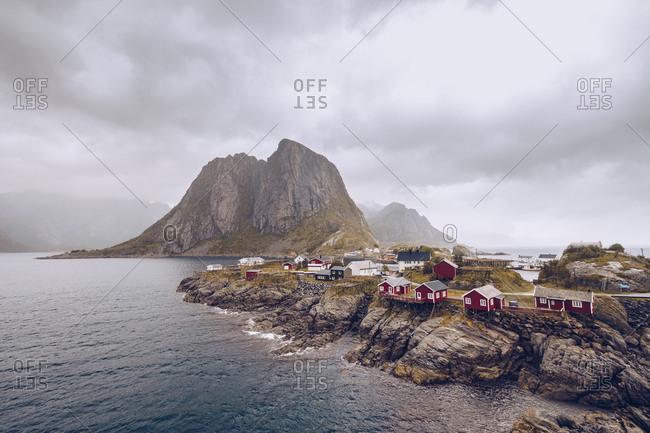 Small settlement on rocky shore