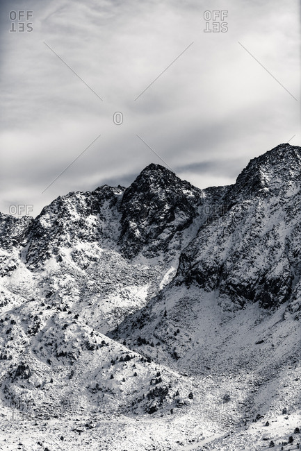 Snowy mountains in Andorra