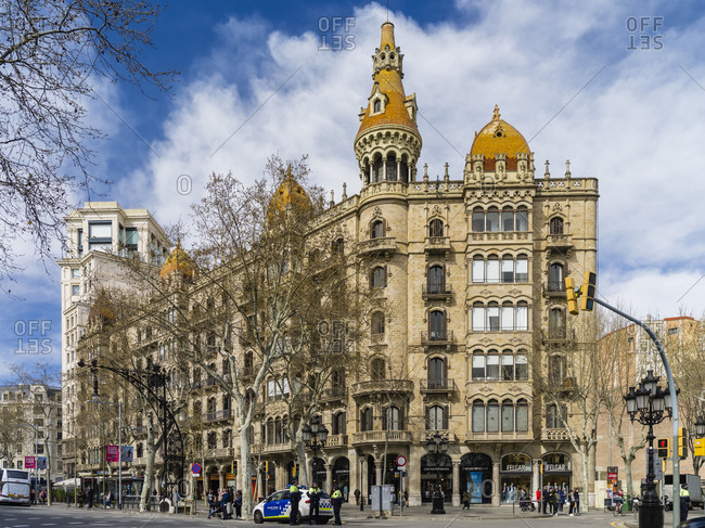 March 20, 2018: Barcelona city center