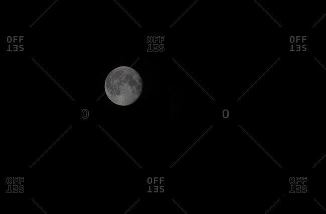 Full moon in the sky, night
