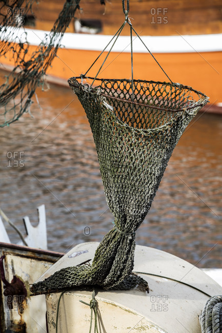 Details of ships, Neuharlingersiel, shrimp boat, East Frisia, Lower Saxony, Germany,