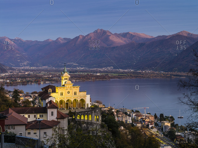 Mountain chapel Madonna del Sasso above Locarno