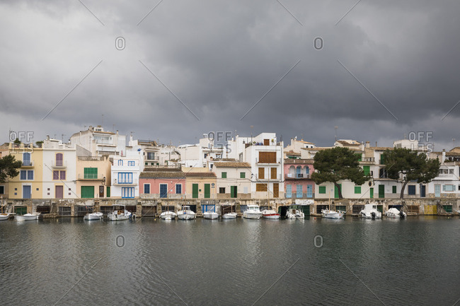 February 22, 2018: Portocolom, Mallorca, Balearic Islands, Spain