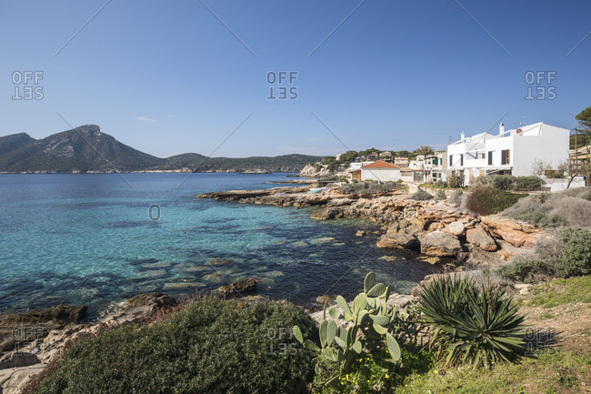 Sant Elm, behind the island Sa Dragonera, Mallorca, Balearic Islands, Spain