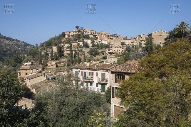 February 26, 2018: Village Deia, Mallorca, Balearic Islands, Spain