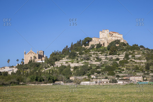 Parish Church of Transfiguracio del Senyor and Sanctuary of Sant Salvador, Arta, Mallorca, Balearic Islands, Spain