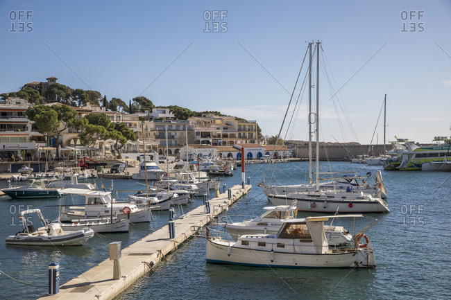 March 3, 2018: Harbour, Cala Ratjada, Mallorca, Balearic Islands, Spain
