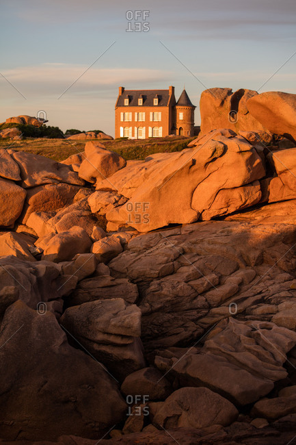 Villa Gustav Eiffel on the Cote de Granit Rose, Brittany, France