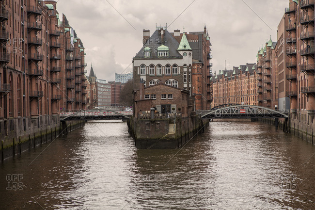 October 27, 2017: Historic Speicherstadt, old town, Hamburg, Germany