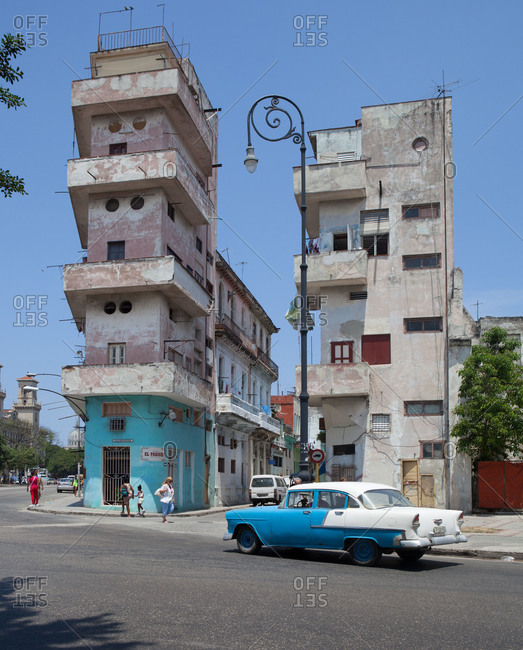 April 17, 2015: Decaying bizarre architecture, Havana, Cuba