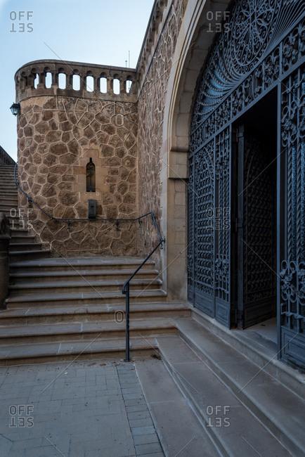 Entrance to the hospital chapel of the Real Santuario San Jose de la Montana, Barcelona
