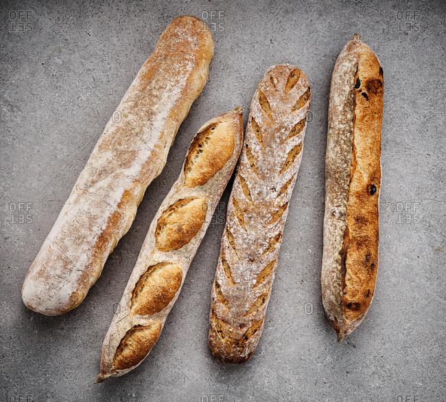 Various artisanal breads