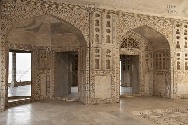 Interior detail of the Taj Mahal