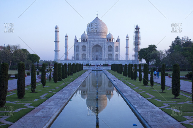 The Taj Mahal at twilight