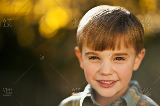 Portrait of cute smiling boy.