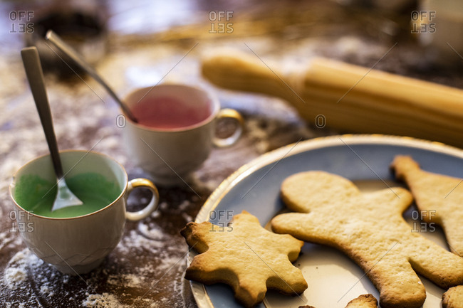 Different christmas gingerbread cookies