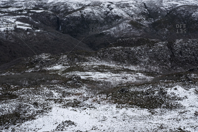 Winter landscape at Geres National Park