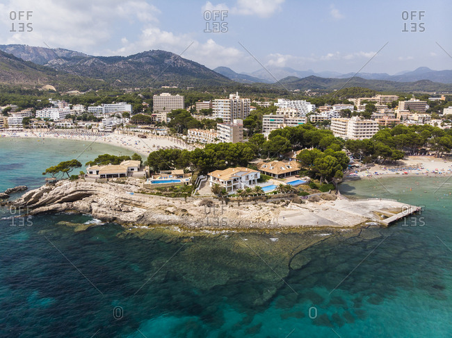 Spain- Balearic Islands- Mallorca- Region Calvia- Costa de la Calma- Peguera- Cala Fornells