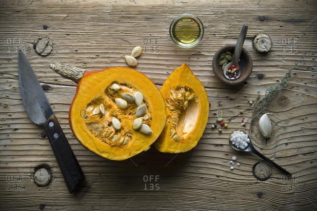 Ingredients for preparing Hokkaido-soup