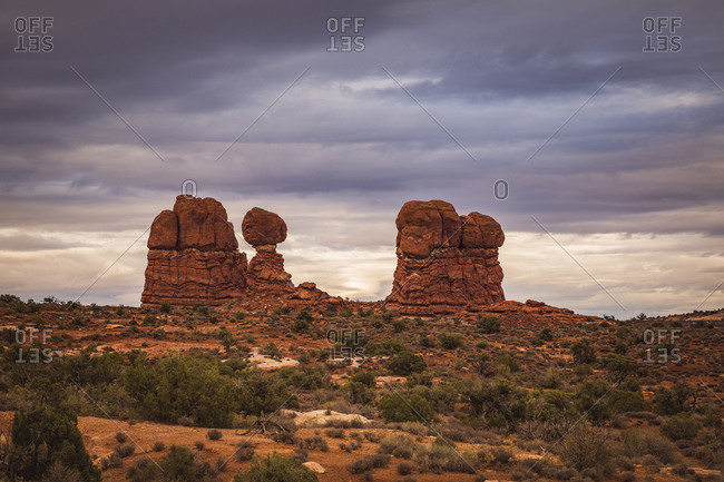 USA- Utah- Rock formations at Arches National Park