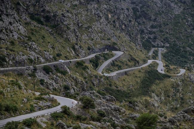 Spain- Mallorca- Sa Calobra- mountain road