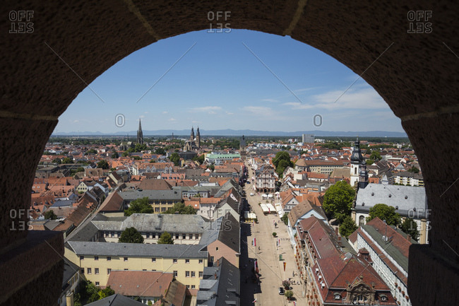 - July 9, 2018: Germany- Rhineland-Palatinate- Speyer- city view- Maximilianstrasse