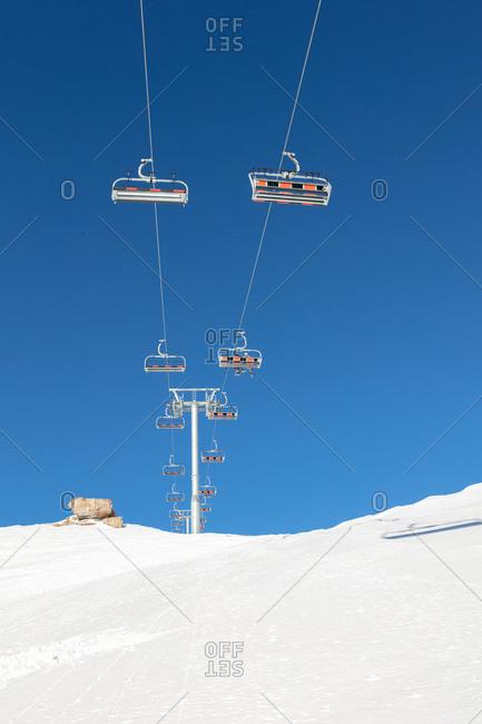 Ski lift in ski resort