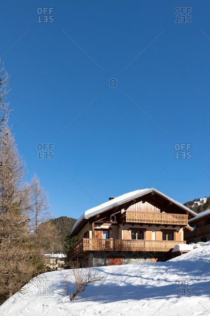 A log cabin at ski resor