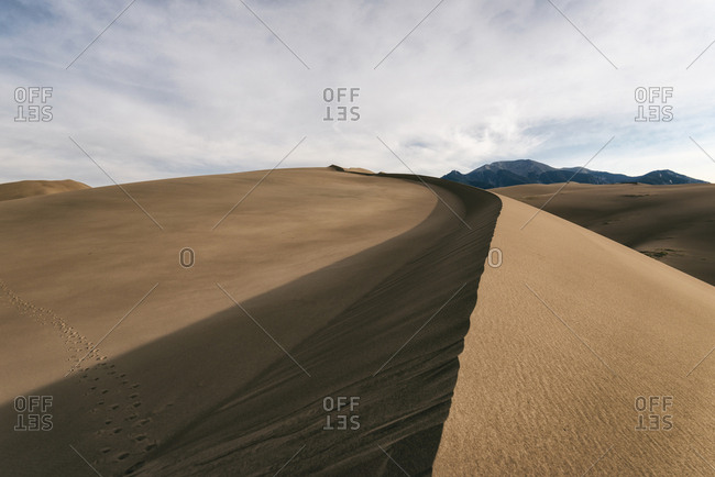 Scenic view of desert at Great Sand Dunes National Park